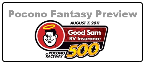 Pocono Good Sam RV Insurance 500 Fantasy NASCAR Preview and Picks