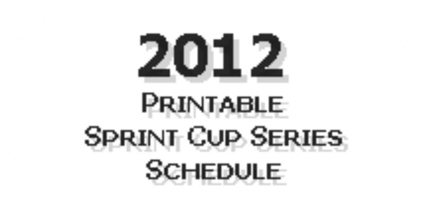 image regarding Printable Nascar Schedule named 2012 Printable NASCAR Dash Cup Collection Program