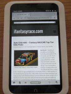 ifantasyrace.com responsive web design
