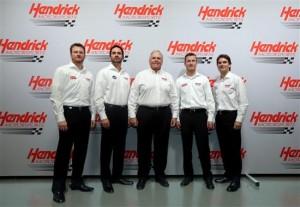 Dale Earnhardt, Jr., Kasey Kahne, Jimmie Johnson, Jeff Gordon, and Rick Hendrick